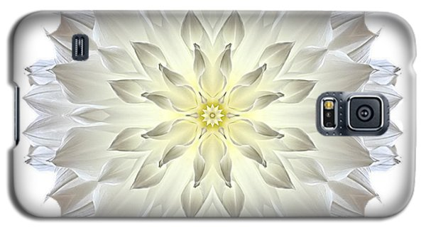 Giant White Dahlia I Flower Mandala White Galaxy S5 Case