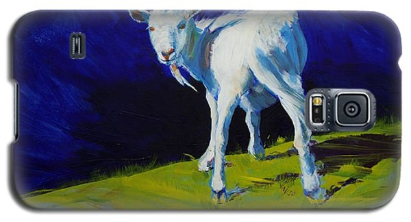 White Goat Painting Galaxy S5 Case