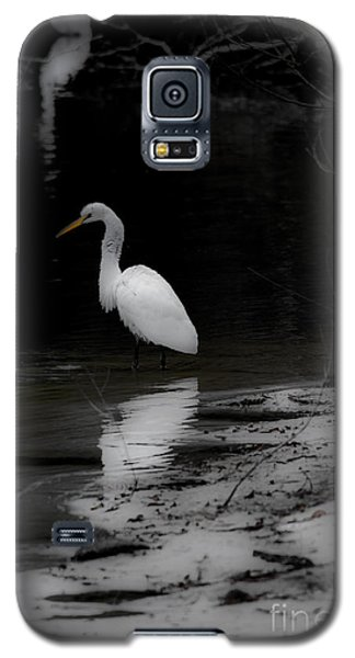 Galaxy S5 Case featuring the photograph White Heron by Angela DeFrias