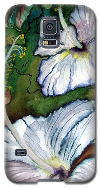 Galaxy S5 Case featuring the painting White Hibiscus by Lil Taylor