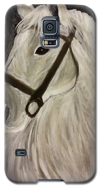Galaxy S5 Case featuring the painting White Horse by Christy Saunders Church