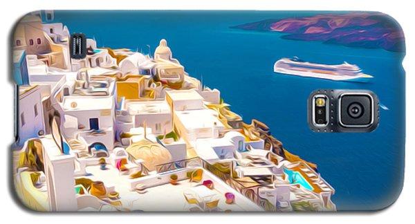 White Houses Of Santorini Galaxy S5 Case