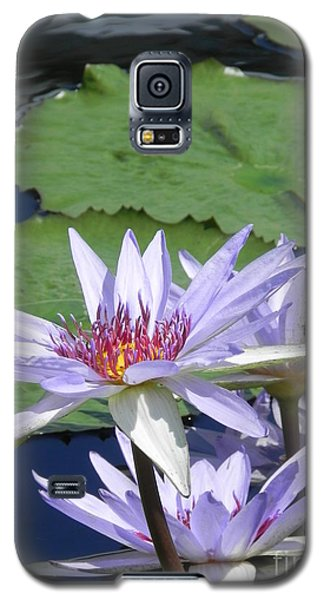 Galaxy S5 Case featuring the photograph White Lilies by Chrisann Ellis