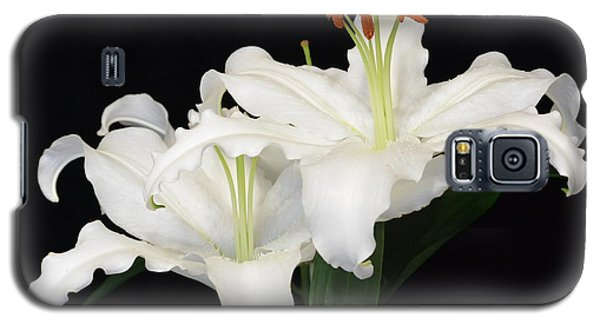 Galaxy S5 Case featuring the photograph White  Lilies by Jeannie Rhode