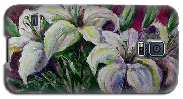 White Lilies Galaxy S5 Case