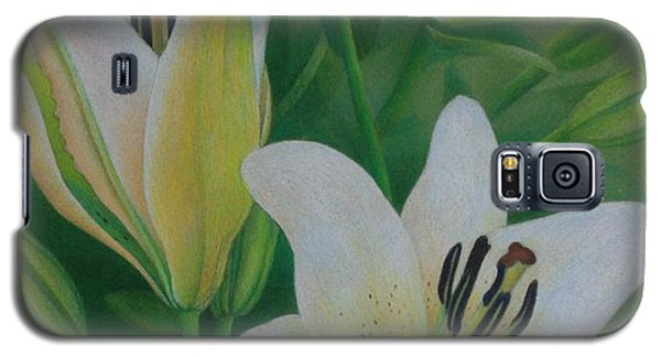 White Lily Galaxy S5 Case by Pamela Clements