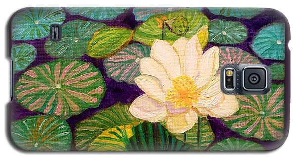 White Lotus Flower Galaxy S5 Case