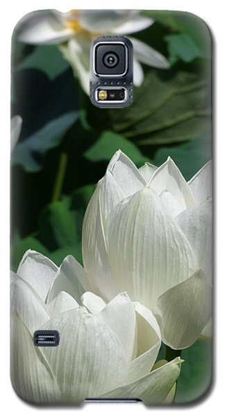 Galaxy S5 Case featuring the photograph White Lotus by Larry Knipfing