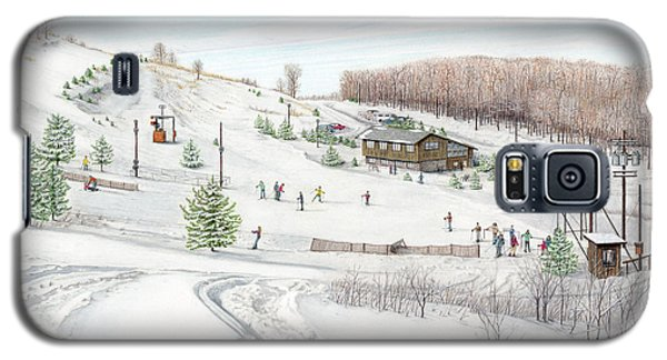 Galaxy S5 Case featuring the painting White Mountain Resort by Albert Puskaric