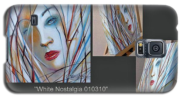 Galaxy S5 Case featuring the painting White Nostalgia 010310 Comp by Selena Boron