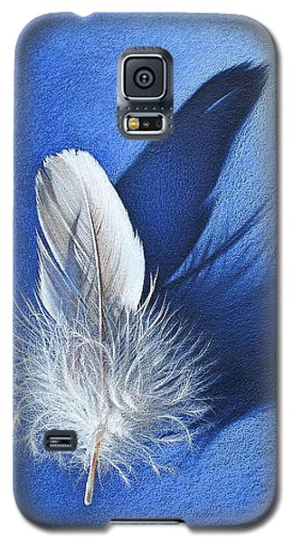 White On Blue Galaxy S5 Case