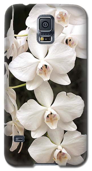 White Orchid Cascade Galaxy S5 Case