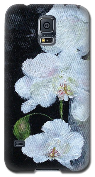 White Orchid Galaxy S5 Case by Judith Rhue