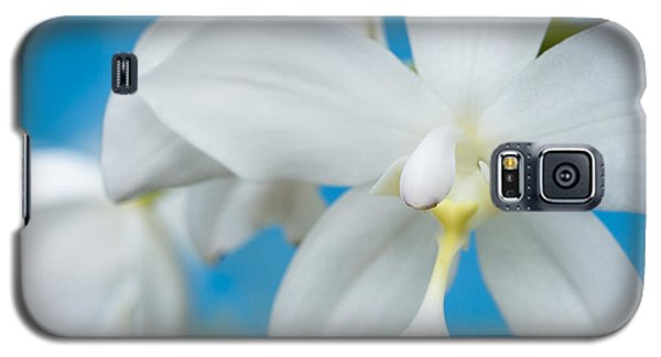 White Orchid Galaxy S5 Case by Leigh Anne Meeks