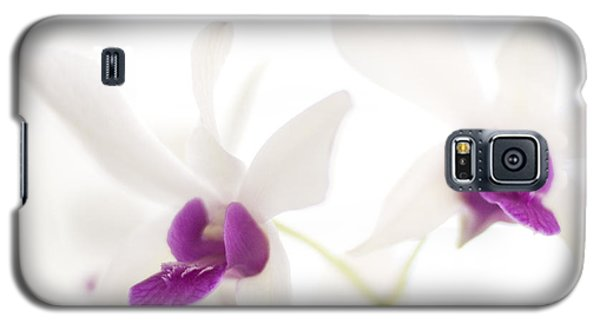 Galaxy S5 Case featuring the photograph White Orchids by Bradley R Youngberg