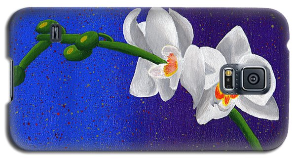 Galaxy S5 Case featuring the painting White Orchids by Laura Forde