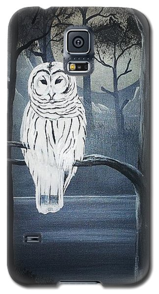 Galaxy S5 Case featuring the painting White Owl  by Edwin Alverio