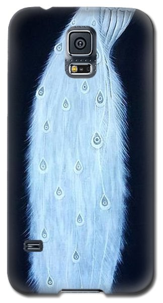 Galaxy S5 Case featuring the painting White Peacock by Edwin Alverio