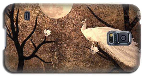 White Peacock Galaxy S5 Case by Sharon Lisa Clarke