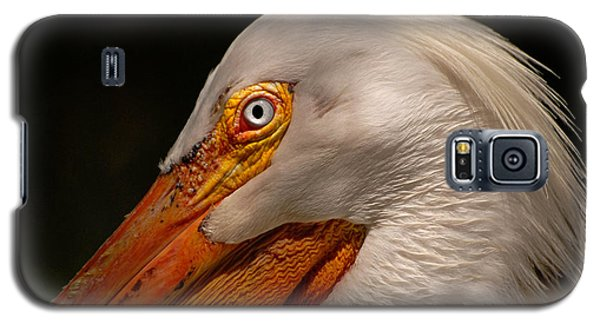 Galaxy S5 Case featuring the photograph White Pelican Portrait by Lorenzo Cassina