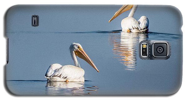 White Pelicans Galaxy S5 Case by Patti Deters