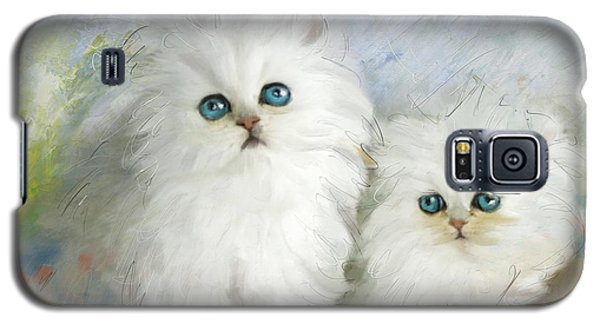 White Persian Kittens  Galaxy S5 Case by Catf