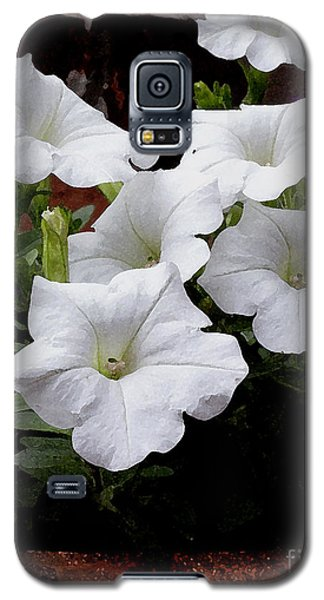 Galaxy S5 Case featuring the photograph White Petunia Blooms by James C Thomas