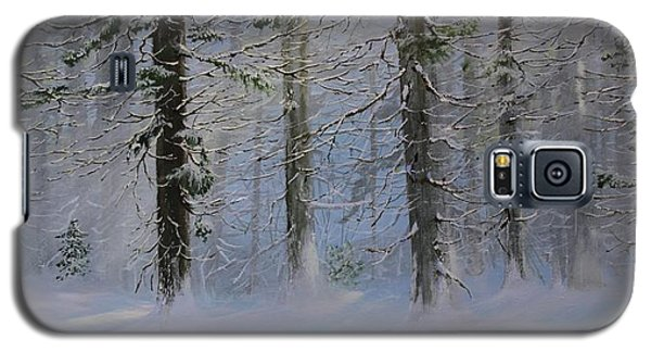 Galaxy S5 Case featuring the painting White Pines by Ken Ahlering
