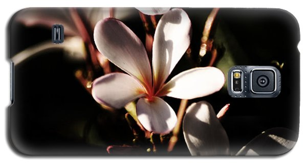 Galaxy S5 Case featuring the photograph White Plumeria by Angela DeFrias