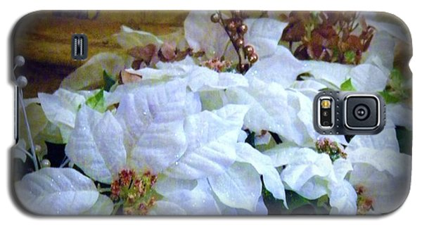 Galaxy S5 Case featuring the photograph White Poinsettia by Michelle Frizzell-Thompson