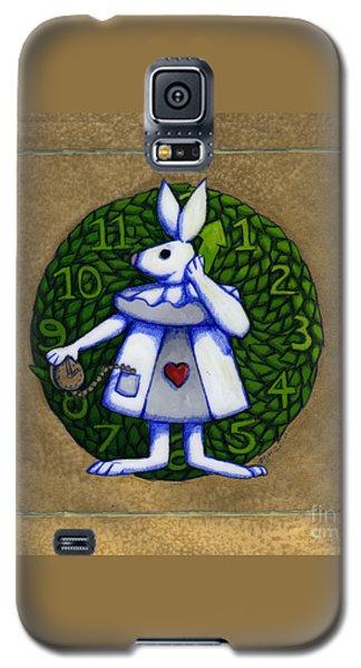 White Rabbit Wonderland Galaxy S5 Case by Donna Huntriss