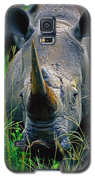 Galaxy S5 Case featuring the photograph White Rhino by Dennis Cox WorldViews