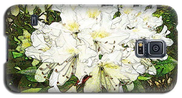 Galaxy S5 Case featuring the photograph White Rhodo Chalk by Laurie Tsemak