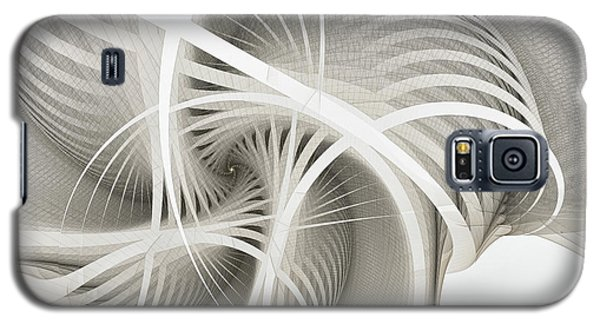 White Ribbons Spiral Galaxy S5 Case