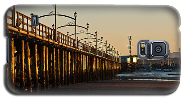 Galaxy S5 Case featuring the photograph White Rock Pier by Sabine Edrissi