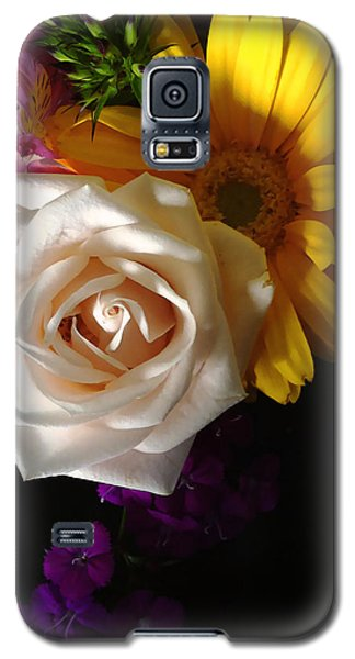 White Rose Galaxy S5 Case by Meghan at FireBonnet Art