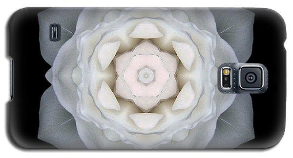 White Rose I Flower Mandala Galaxy S5 Case by David J Bookbinder