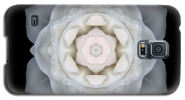 White Rose I Flower Mandala Galaxy S5 Case