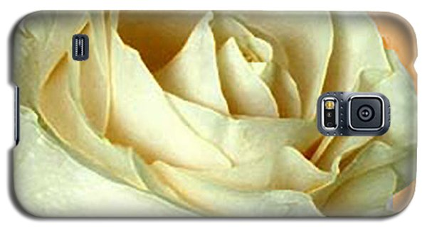 Galaxy S5 Case featuring the photograph White Rose On Sepia by Nina Silver