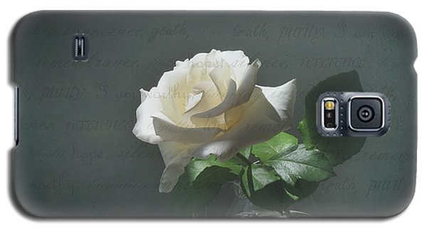 White Rose Still Life Galaxy S5 Case