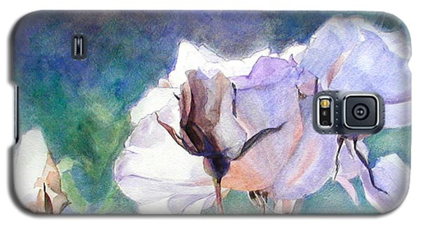 Galaxy S5 Case featuring the painting White Roses In The Shade by Greta Corens