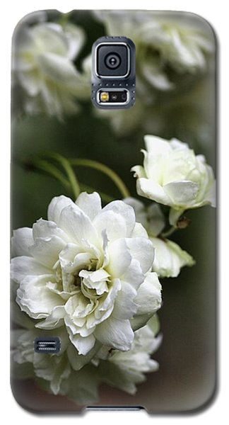 Galaxy S5 Case featuring the photograph White Roses by Joy Watson
