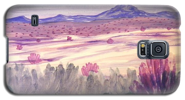 Galaxy S5 Case featuring the painting White Sand Purple Hills by Suzanne McKay