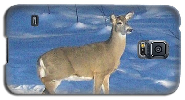 Galaxy S5 Case featuring the photograph White Tail Deer by Brenda Brown