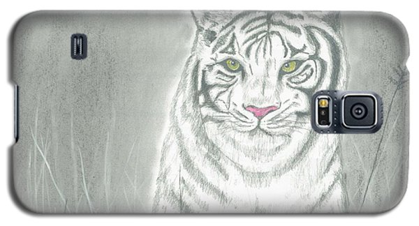 Galaxy S5 Case featuring the pastel White Tiger by David Jackson