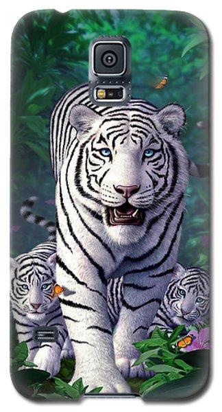 Tiger Galaxy S5 Case - White Tigers by Jerry LoFaro