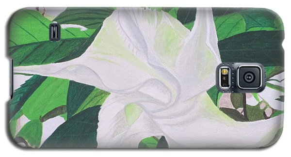 White Trumpet Opening Galaxy S5 Case by Hilda and Jose Garrancho