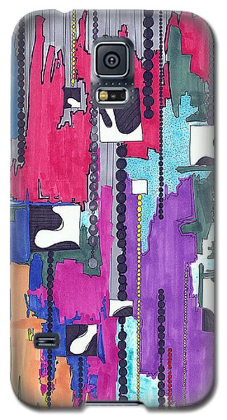 Galaxy S5 Case featuring the painting White Voids by Teddy Campagna