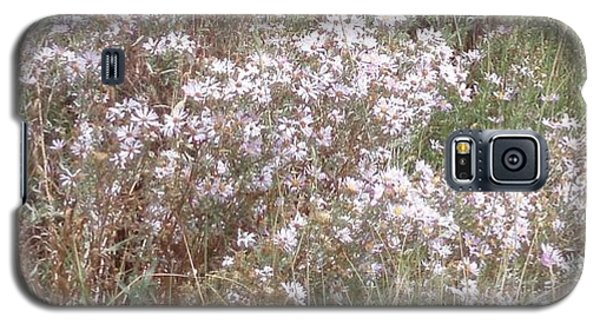 Galaxy S5 Case featuring the photograph White Wild Flowers by Fortunate Findings Shirley Dickerson