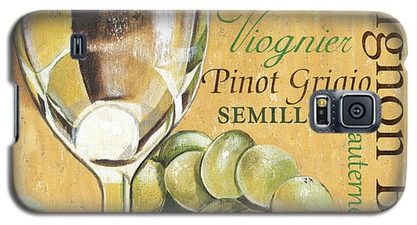 Wine Galaxy S5 Case - White Wine Text by Debbie DeWitt